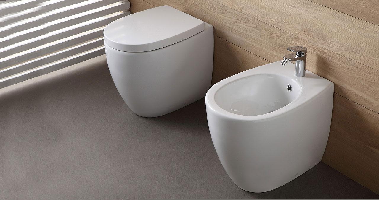 Sanitari Nero Ceramica Aliseo.Sanitari Nero Ceramica Aliseo Oostwand